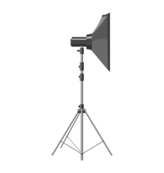 Spotlight for shooting icon gray monochrome style vector
