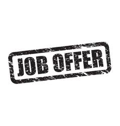 job offer stamp vector image