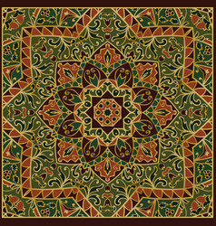 green ornamental pattern vector image