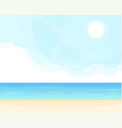 Sea and clouds background vector
