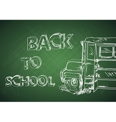 Education back to school bus vector