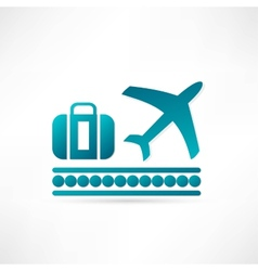 Luggage plane icon vector