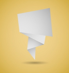 Abstract origami speech background on yellow vector image
