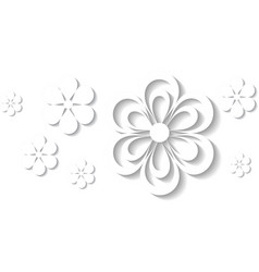 3d floral background vector image vector image