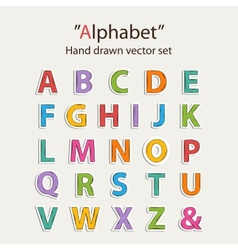 Alphabet sticer set vector