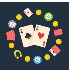 Poker flat logo vector