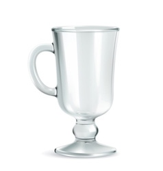 Traditional mug for irish coffee empty iso vector