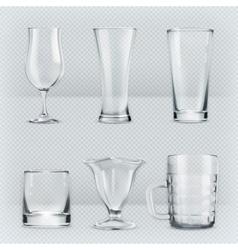 Transparent glasses goblets vector