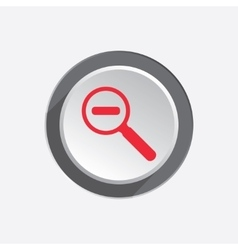 Zoom tool icon magnifier glass with minus search vector