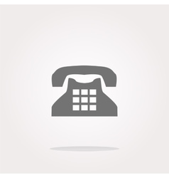 Rotary phone web button icon icon vector