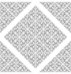 Black white seamless round pattern vector