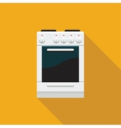A stove with an oven flat icon vector