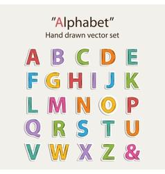 Alphabet sticer set vector