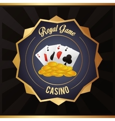 Cards coins casino las vegas icon vector