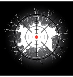 Crosshair after shooting vector image vector image