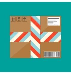Delivery postal cardboard box vector