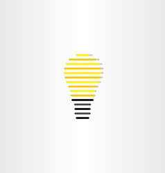 electric bulb icon stylized design vector image vector image