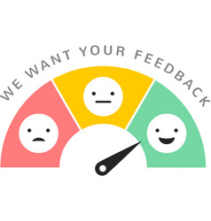 Emoticons scale satisfaction survey vector
