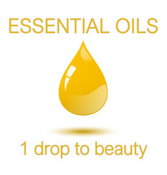 Essential oils - one droop to beauty square vector