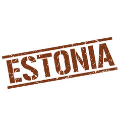Estonia brown square stamp vector