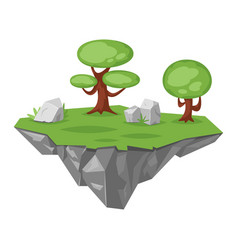 Game stone green island vector