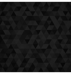 Geometric mosaic pattern from black triangle vector image vector image