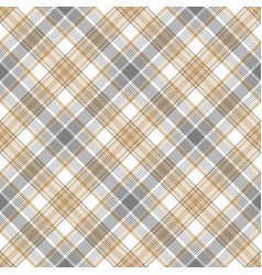 Gray beige checkered tartan seamless pattern vector