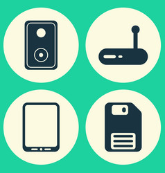 Hardware icons set collection of audio device vector