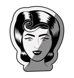 Isolated retro woman cartoon design vector image