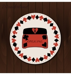 Jewelry box - drink coaster from wonderland on vector