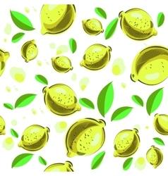 Lemon seamless background vector