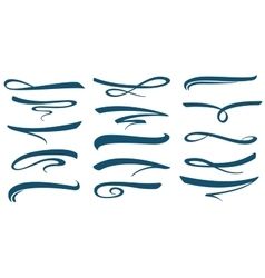 Marker stroke line lettering underlines vector