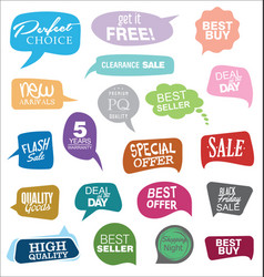 Modern badges colorful collection 2 vector