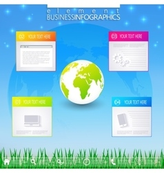 Modern infographic business template vector