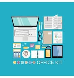 Office kit decorative vector image
