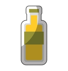 oil bottle isolated icon vector image vector image