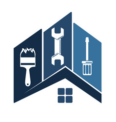 repair of home symbol vector image