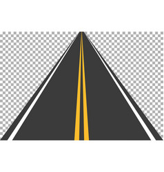 Road street with asphalt highway way for vector