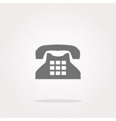 Rotary phone web button icon icon vector