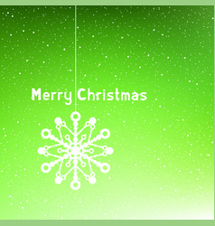 text merry christmas green vector image vector image
