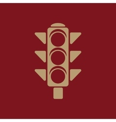 The traffic light icon stoplight and semaphore vector