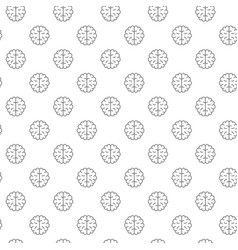 unique brain seamless pattern with various icons vector image vector image