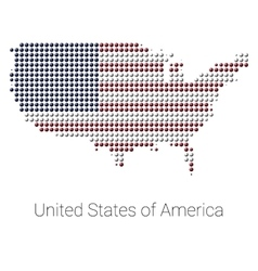 Usa map color dotted design vector