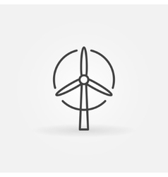 Wind turbine logo or icon vector image