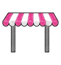 Store awning icon vector