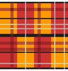 Red orange tartan vector image