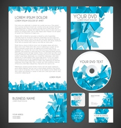 Modern particles graphic business layout vector