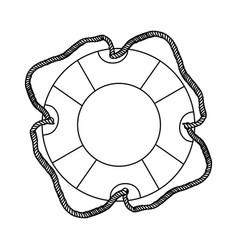 contour lifebuoy icon image vector image