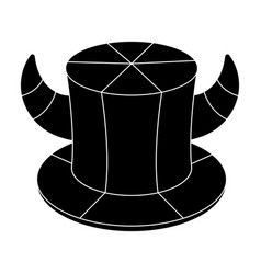 hat of a fan with hornsfans single icon in black vector image