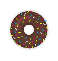 Donut icon modern flat vector